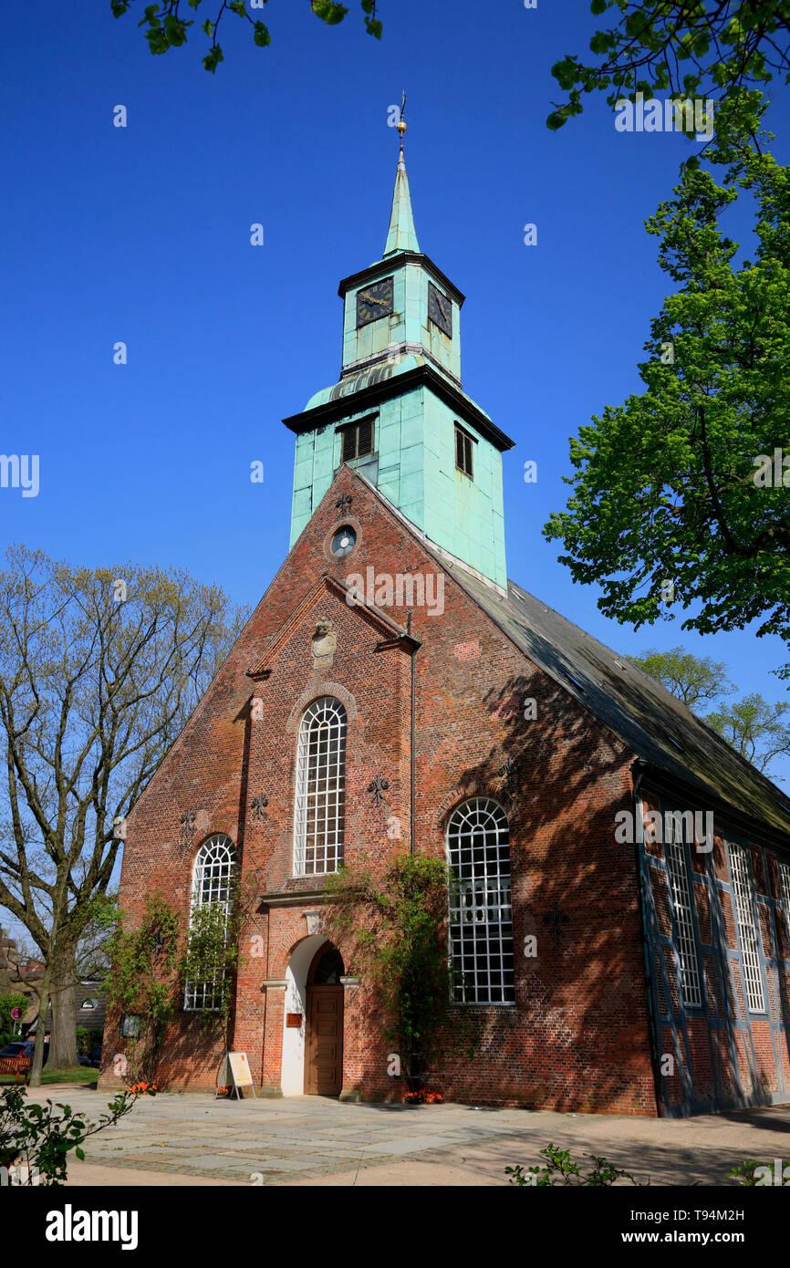 Chiesa in Nienstedten, Amburgo, Germania, Europa Foto Stock