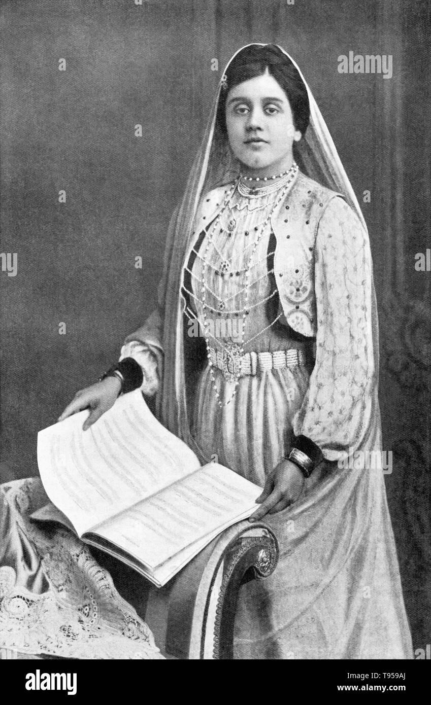 Vintage fotografia del giornalista di oliva Malvery cristiana. Immagini Stock