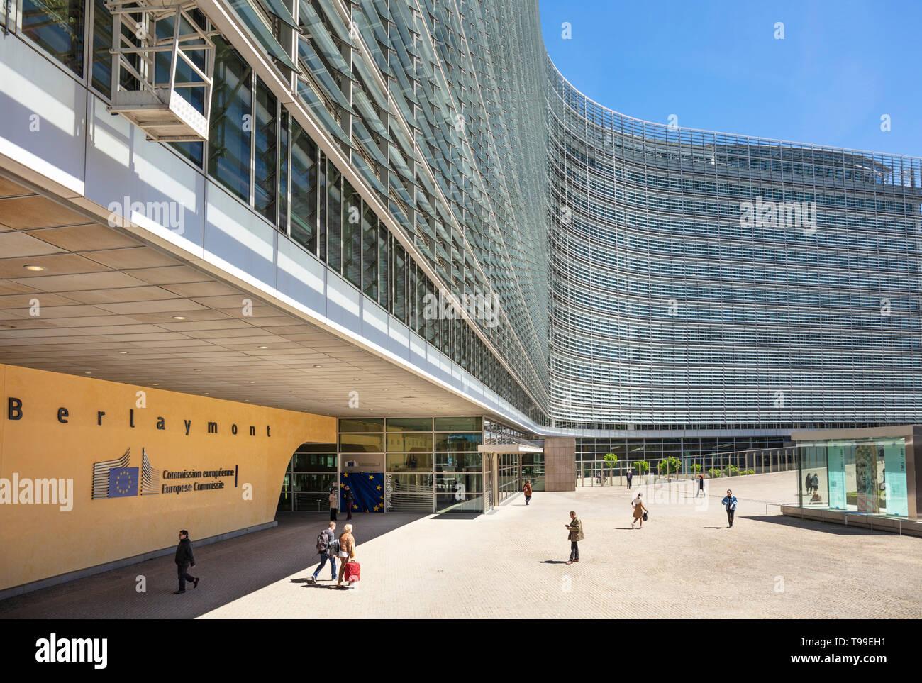 Sede centrale della Commissione europea UE costruzione edificio della Commissione Commissione europea edificio Berlaymont, a Bruxelles, Belgio, Unione Europea, Europa Immagini Stock