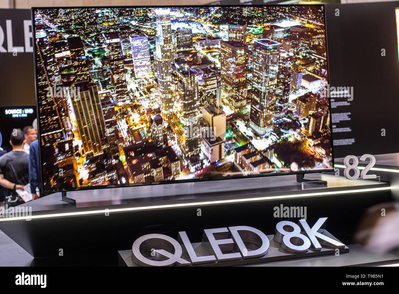 Berlino, Germania, Sep 02, 2018 Samsung QLED 8K HDR