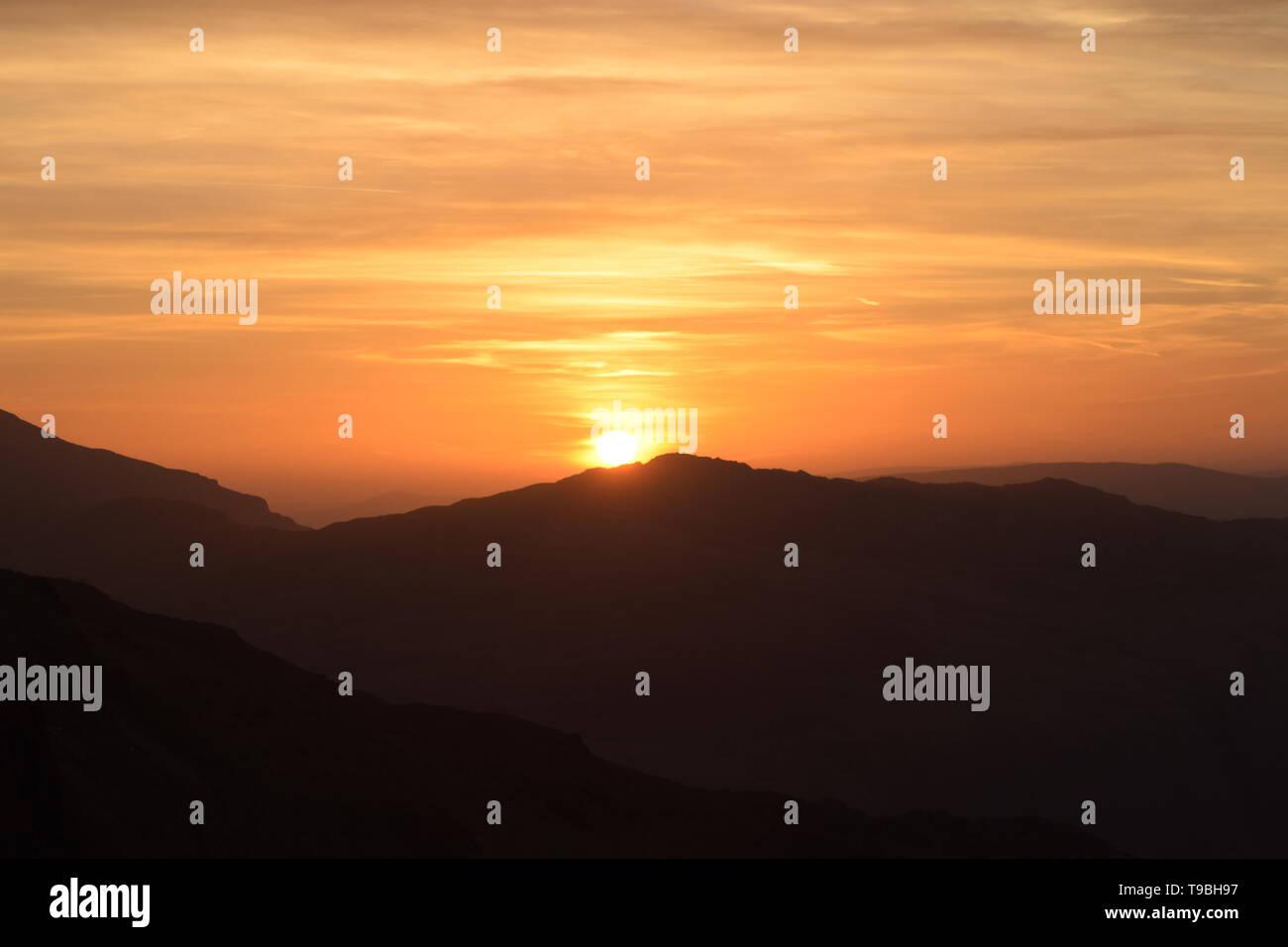 Snowdon Sun rise Immagini Stock