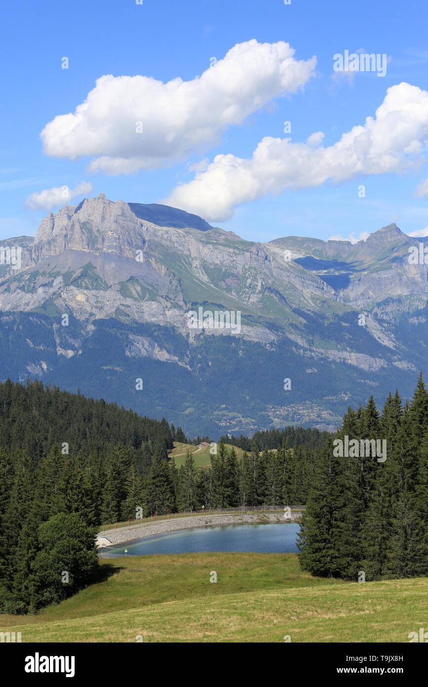 Les Aiguilles de Warens. Alpes françaises. Immagini Stock