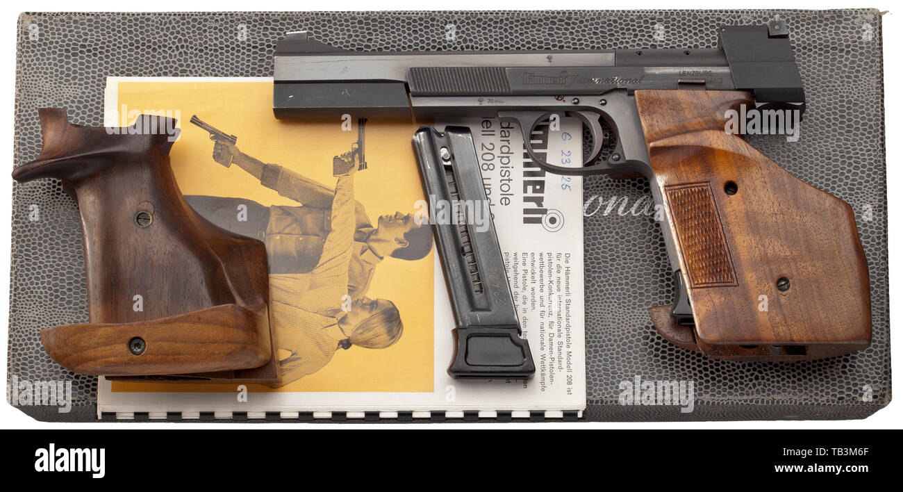 Tiro Sport, pistole, Svizzera, Hämmerli 208, calibro .22, Additional-Rights-Clearance-Info-Not-Available Immagini Stock