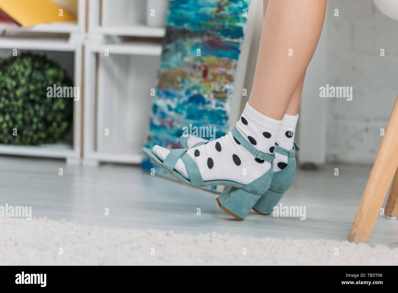 Sandals Socks Fotos Immaginiamp; Alamy Woman Stock q5Rj34LA
