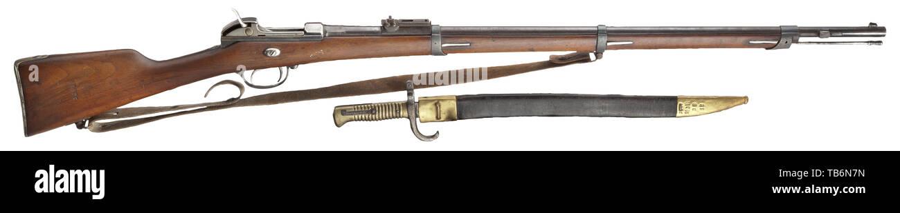 Armi di servizio, Baviera, fucile Werder M 1869, vecchio stile, calibro 11 mm, numero 63075, Additional-Rights-Clearance-Info-Not-Available Immagini Stock