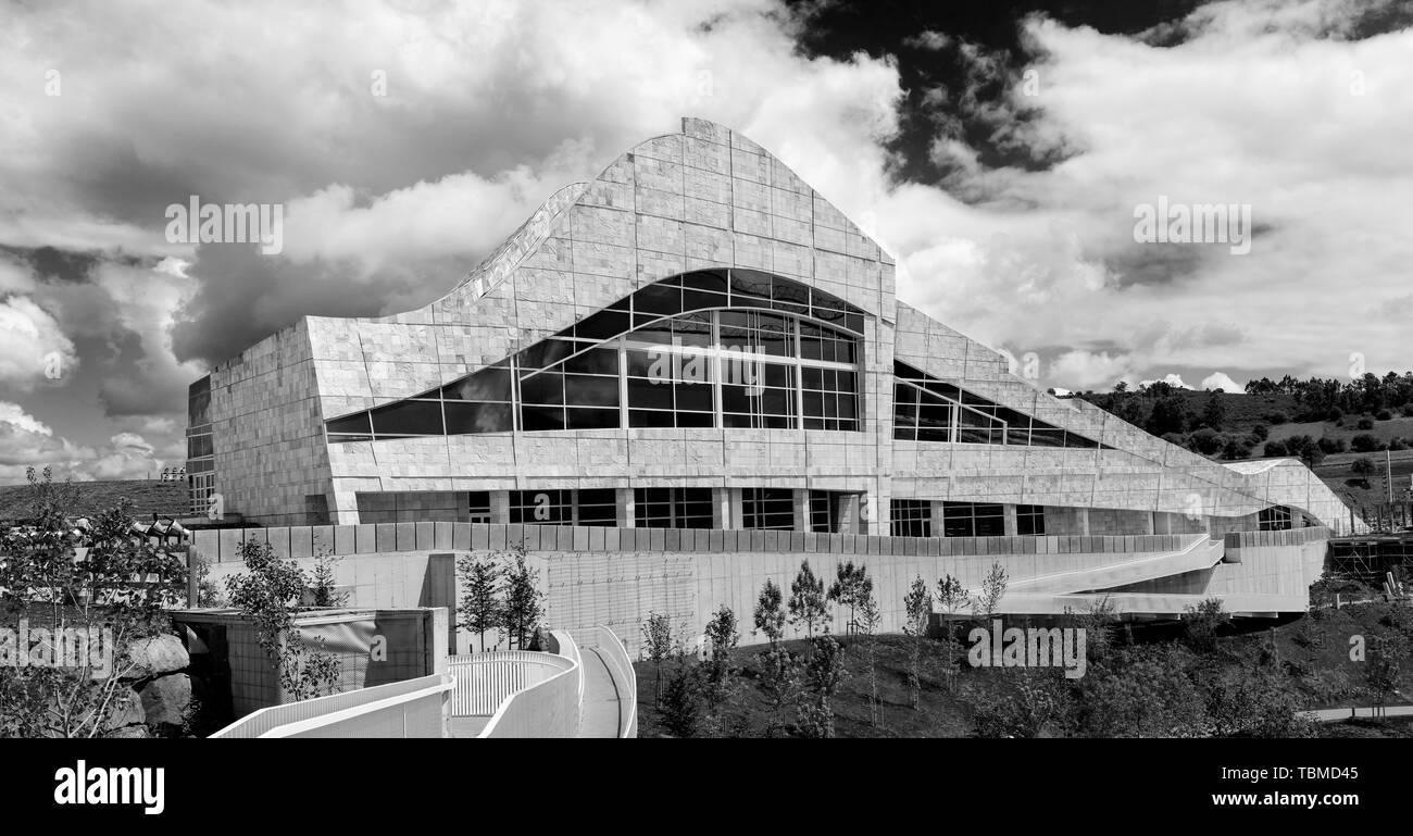 Santiago de Compostela, Spagna; 31 maggio 2019: Ciudad de la Cultura edificio. Città della cultura della Galizia è un luogo famoso in Santiago de Compostela des Immagini Stock