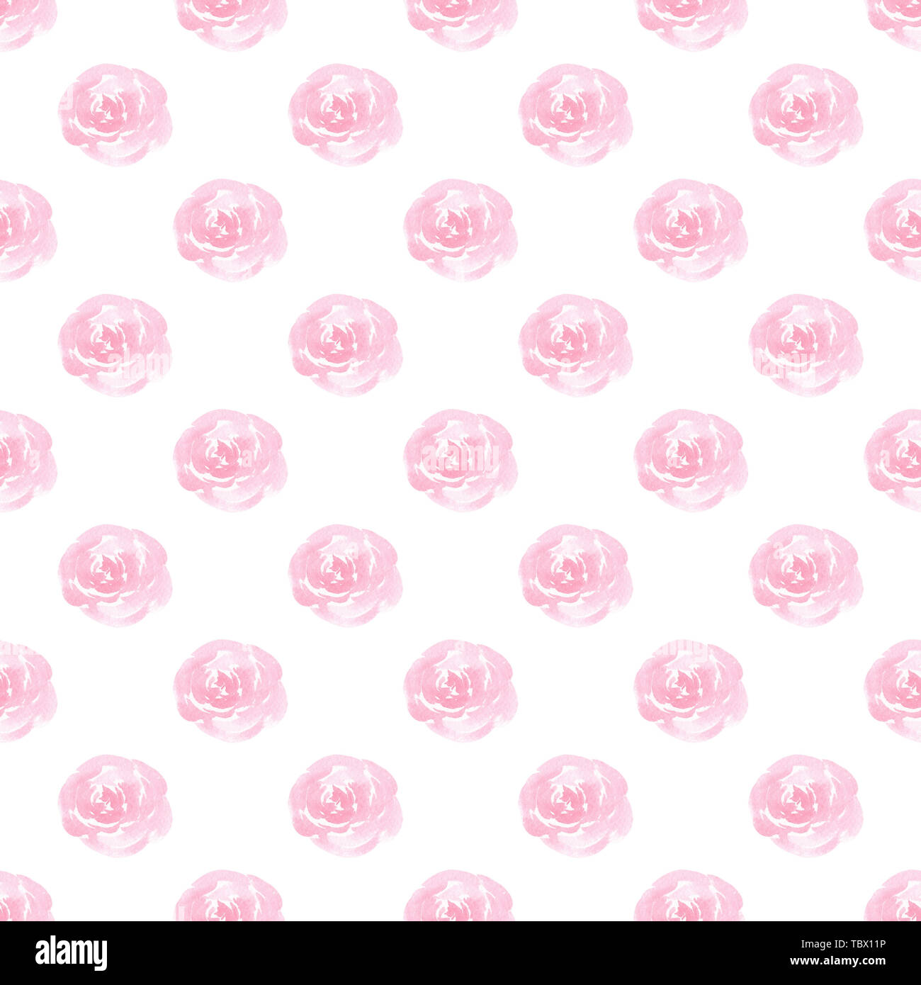 Le rose rosa acquerello pattern senza giunture Immagini Stock