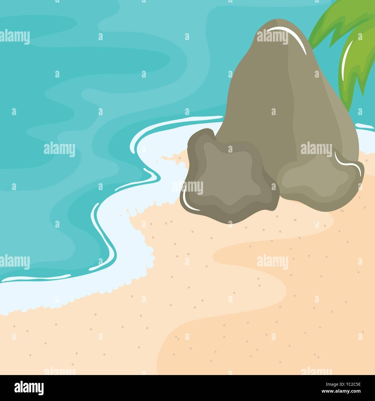 Rocce sulla Spiaggia in Alabama-WALL POSTER Arte //