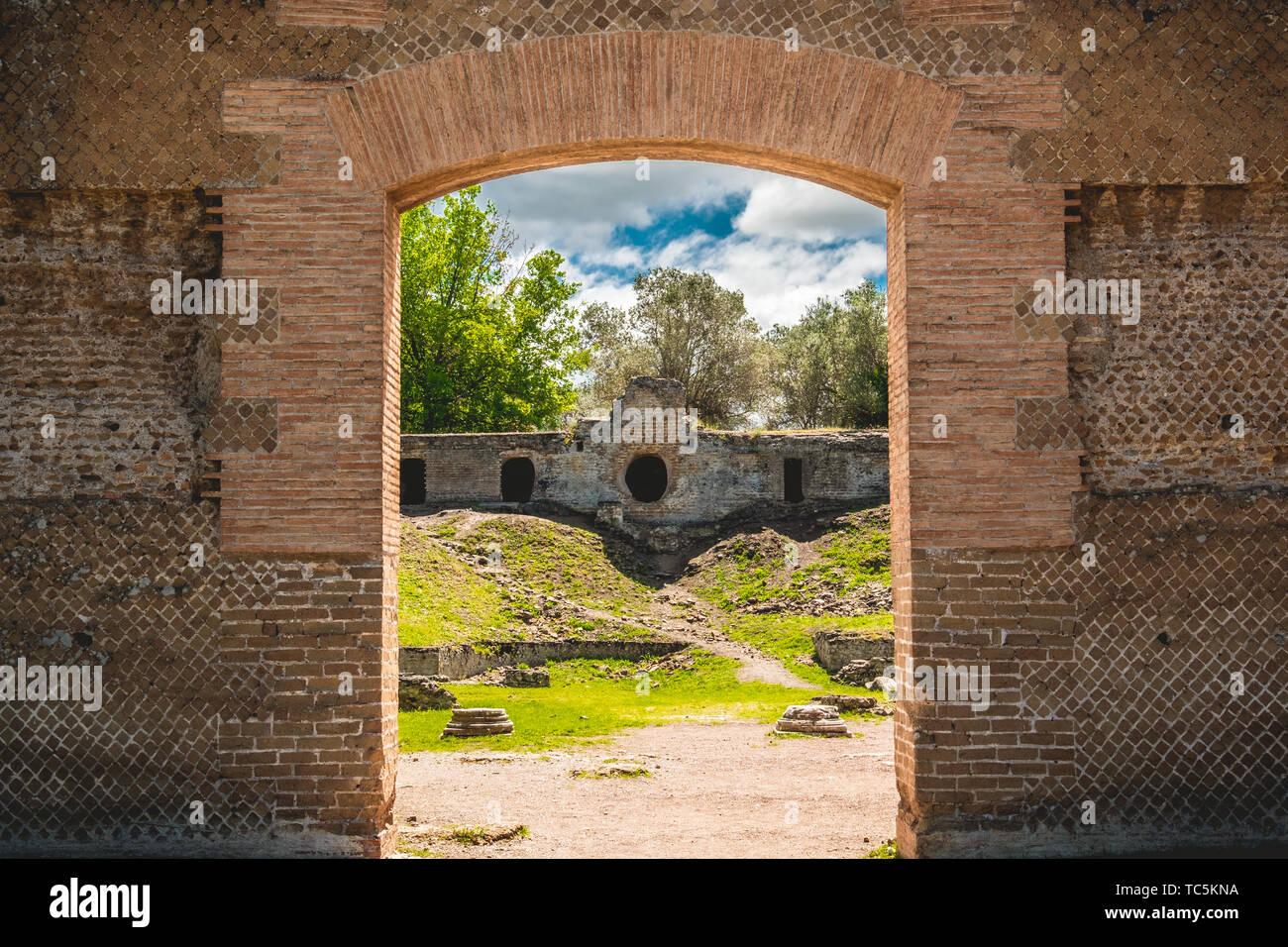 Rovine di archeologia civiltà romana catacombe di Roma TIVOLI - Lazio - Italia Foto Stock