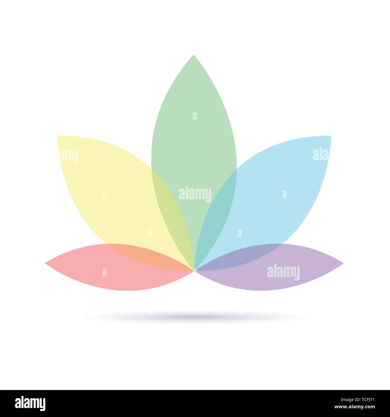 Coloratissimo fiore di loto isolati su sfondo bianco illustrazione vettoriale EPS10 Illustrazione Vettoriale