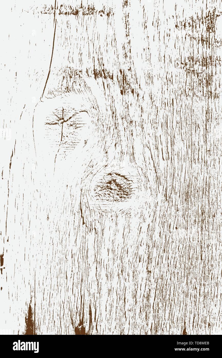 Abstract vector background design per l'uso. Addolorato overlay texture di legno - Vettore. Immagini Stock