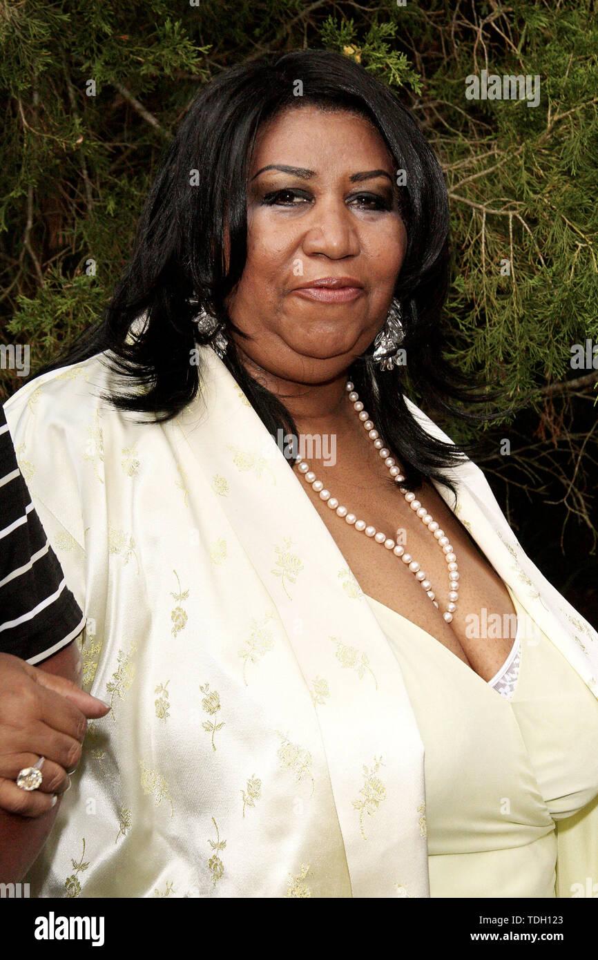 East Hampton, Stati Uniti d'America. 19 Luglio, 2008. Aretha Franklin alla nona arte annuale per la vita East Hampton gala benefici al Russell Simmons' East Hampton station wagon. Credito: Steve Mack/Alamy Foto Stock