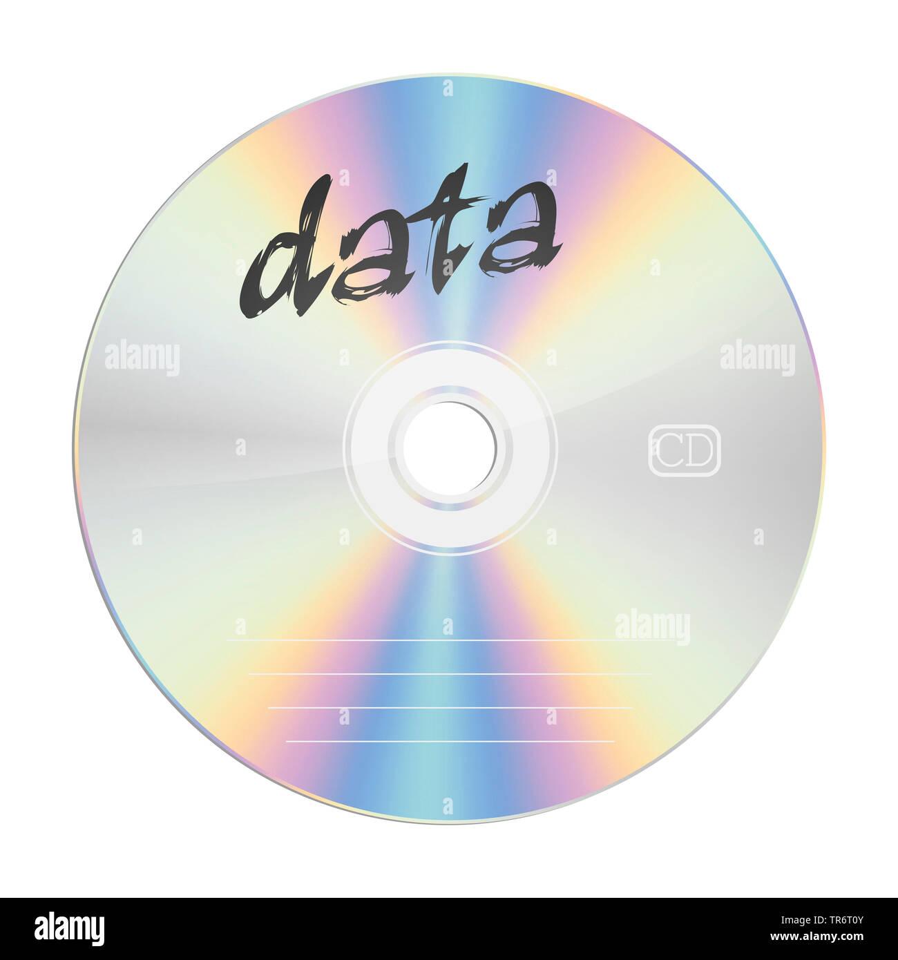 CD con il titolo i dati Immagini Stock