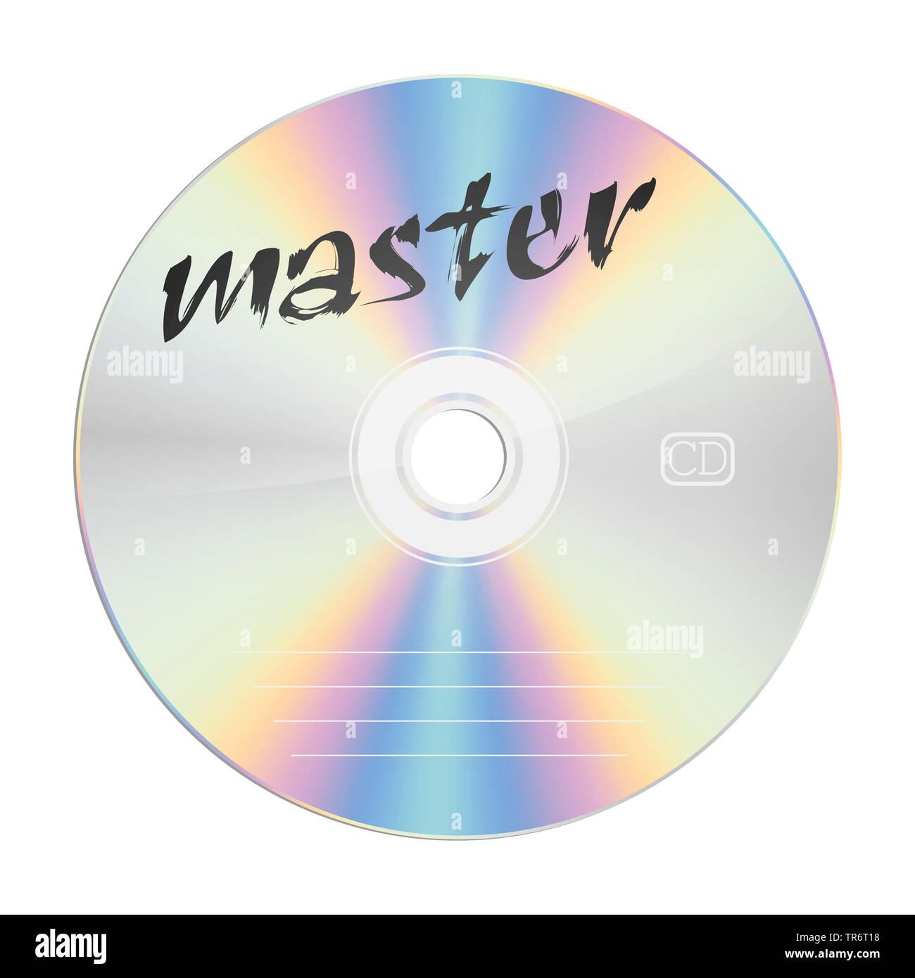 CD con il titolo master Immagini Stock