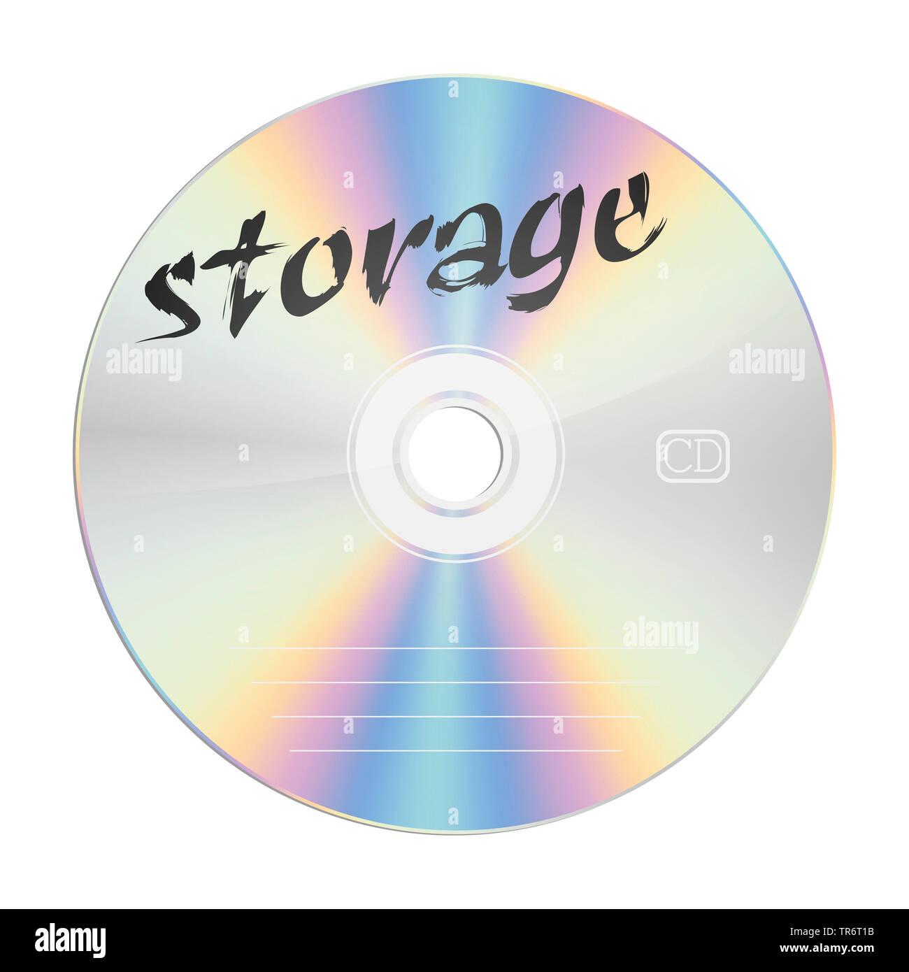CD con il titolo lo storage Immagini Stock