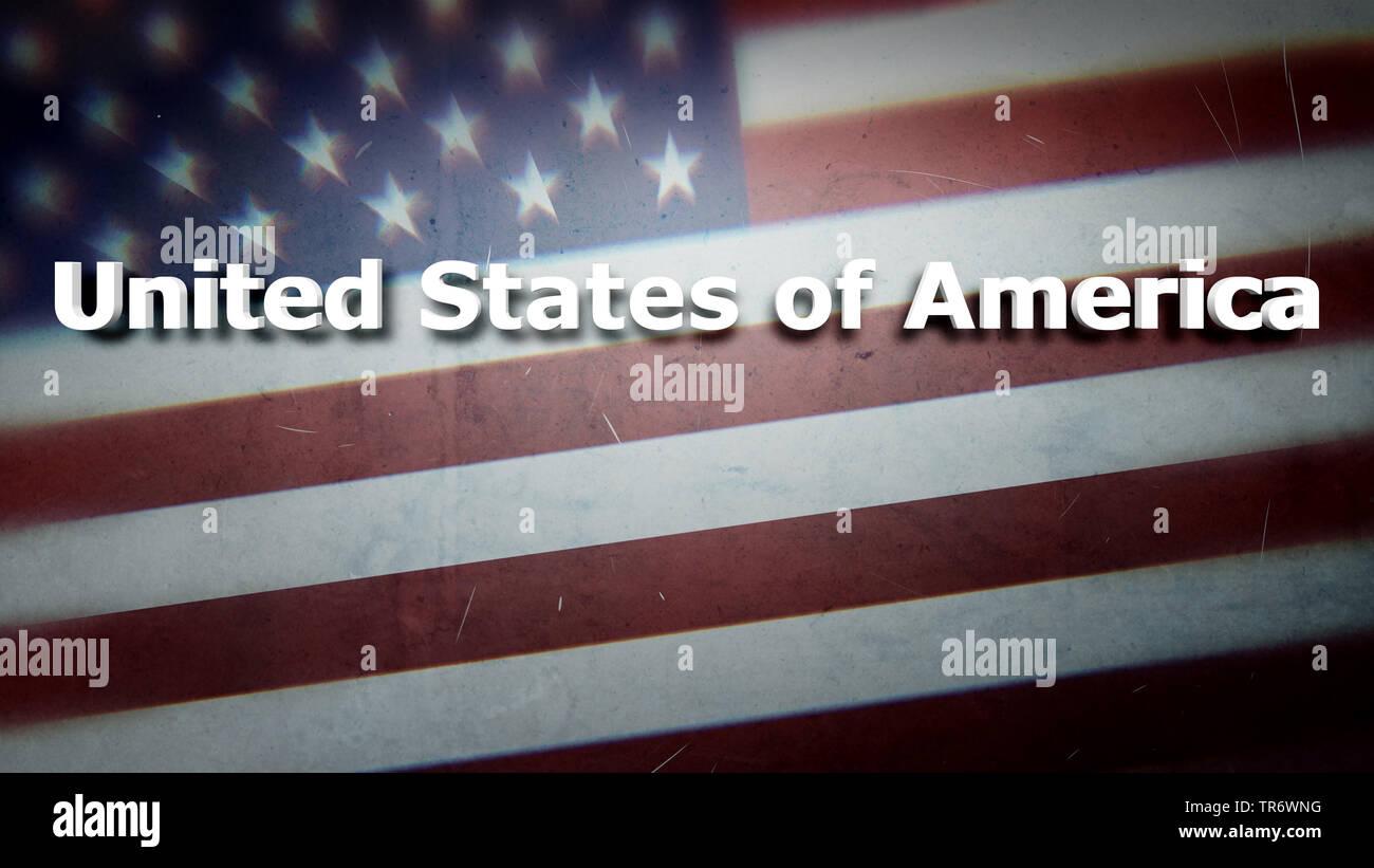 La fag degli USA con titel, STATI UNITI D'AMERICA Immagini Stock