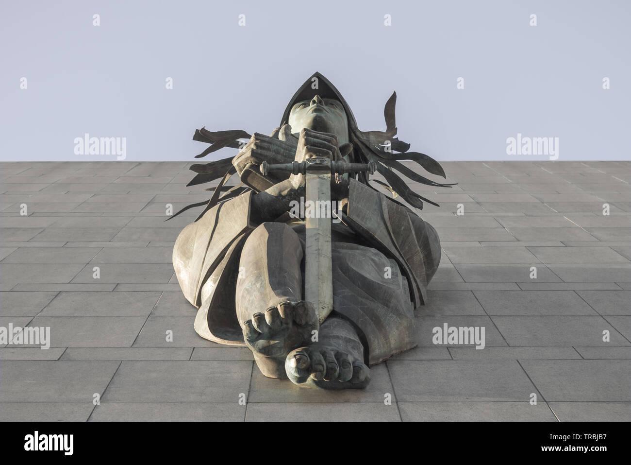 Themis dea della giustizia Immagini Stock