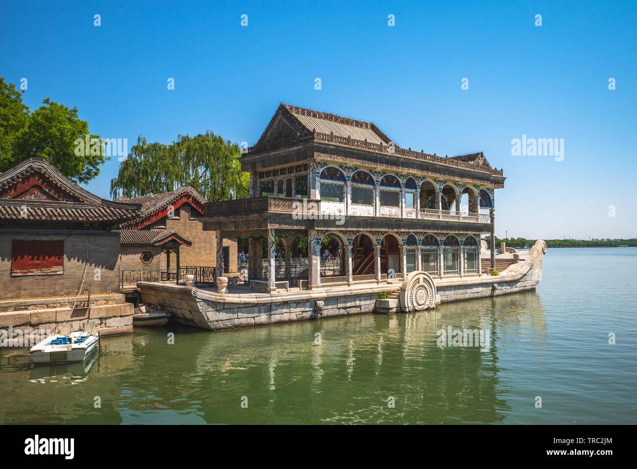 Barca di purezza e di facilità nel palazzo d'estate, Pechino Immagini Stock