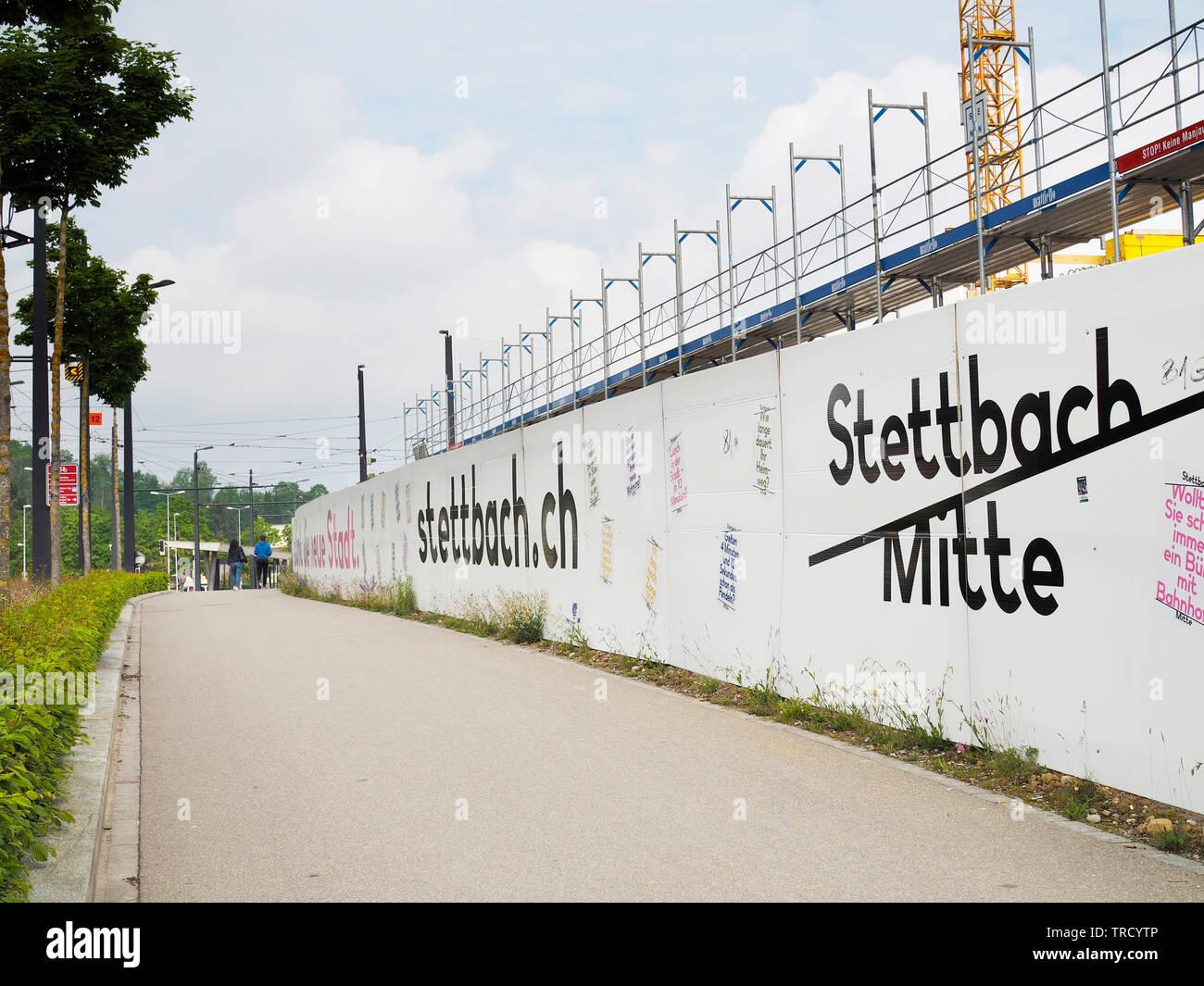 Baustelle Stettbach Mitte beim Bahnhof Stettbach, Zurigo, Schweiz Immagini Stock