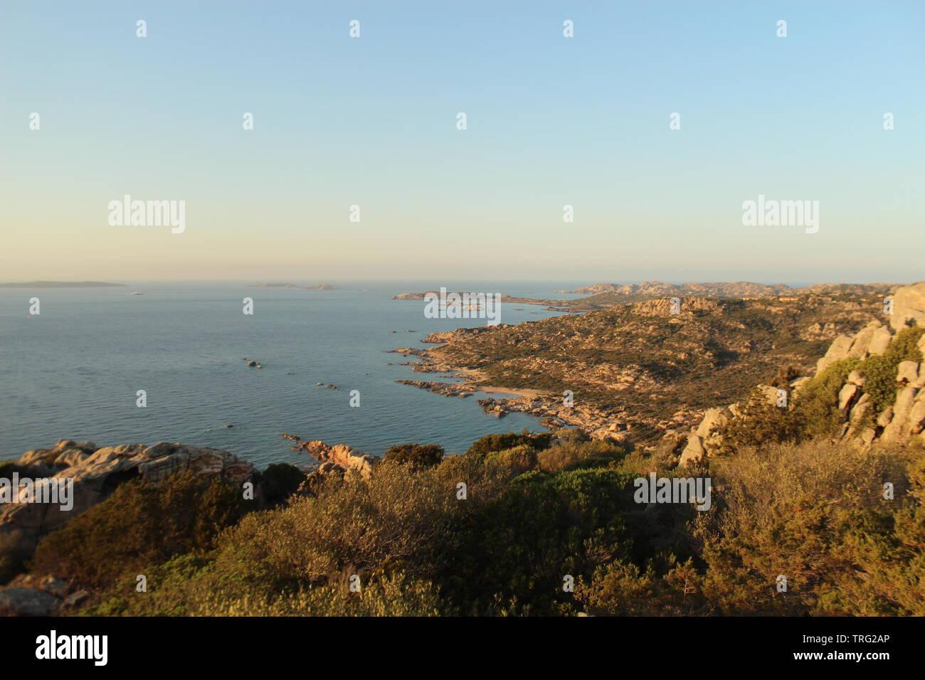 Sardegna shore beach vista in estate Immagini Stock