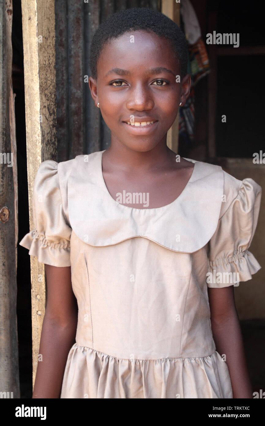 Togolaise adolescente. La convenzione di Lomé. Il Togo. Afrique de l'Ouest. Immagini Stock