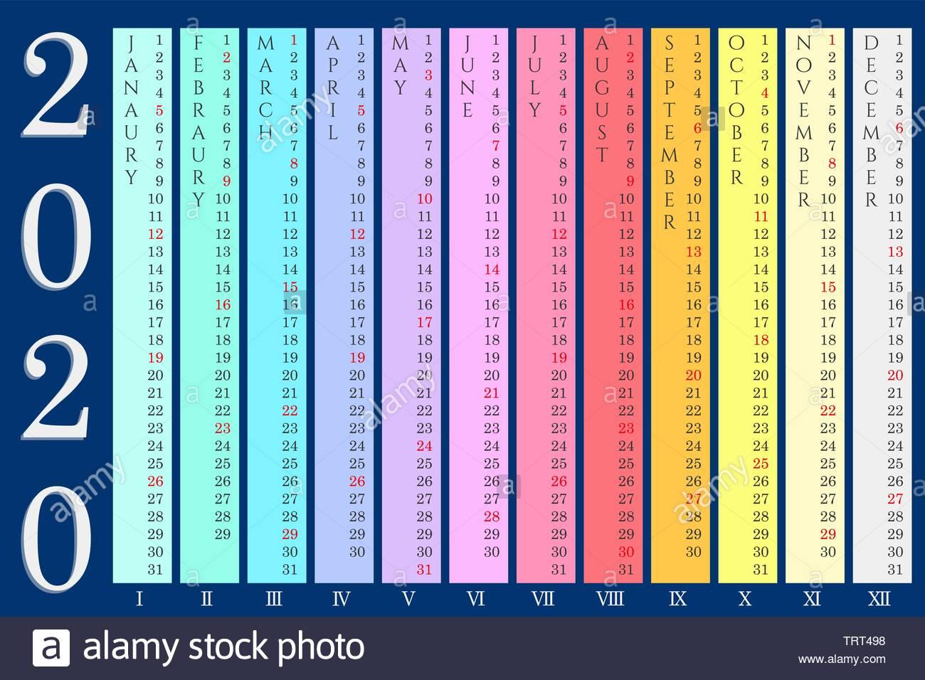 Calendario Islamico 2020.Month Vector Vectors Immagini Month Vector Vectors Fotos Stock Alamy