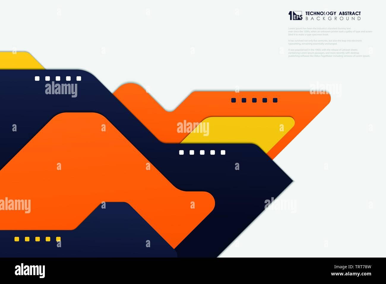Abstract deco modello moderno di design tecnologia su sfondo bianco. È possibile utilizzare per inserzione, poster, d'arte e progettazione del modello, presentazione progetto ad. Immagini Stock