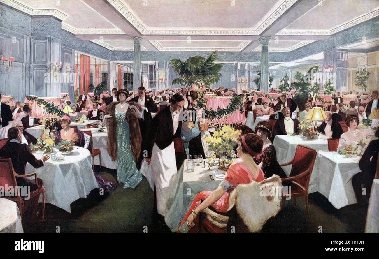 BRITISH alta società a cena circa 1910 Immagini Stock