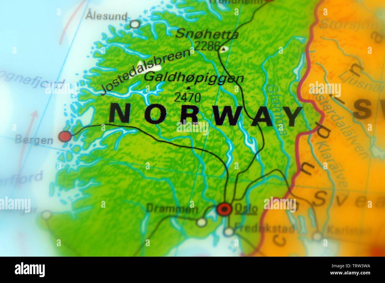 Cartina Politica Norvegia.Mappa Politica Scandinavia Immagini E Fotos Stock Alamy