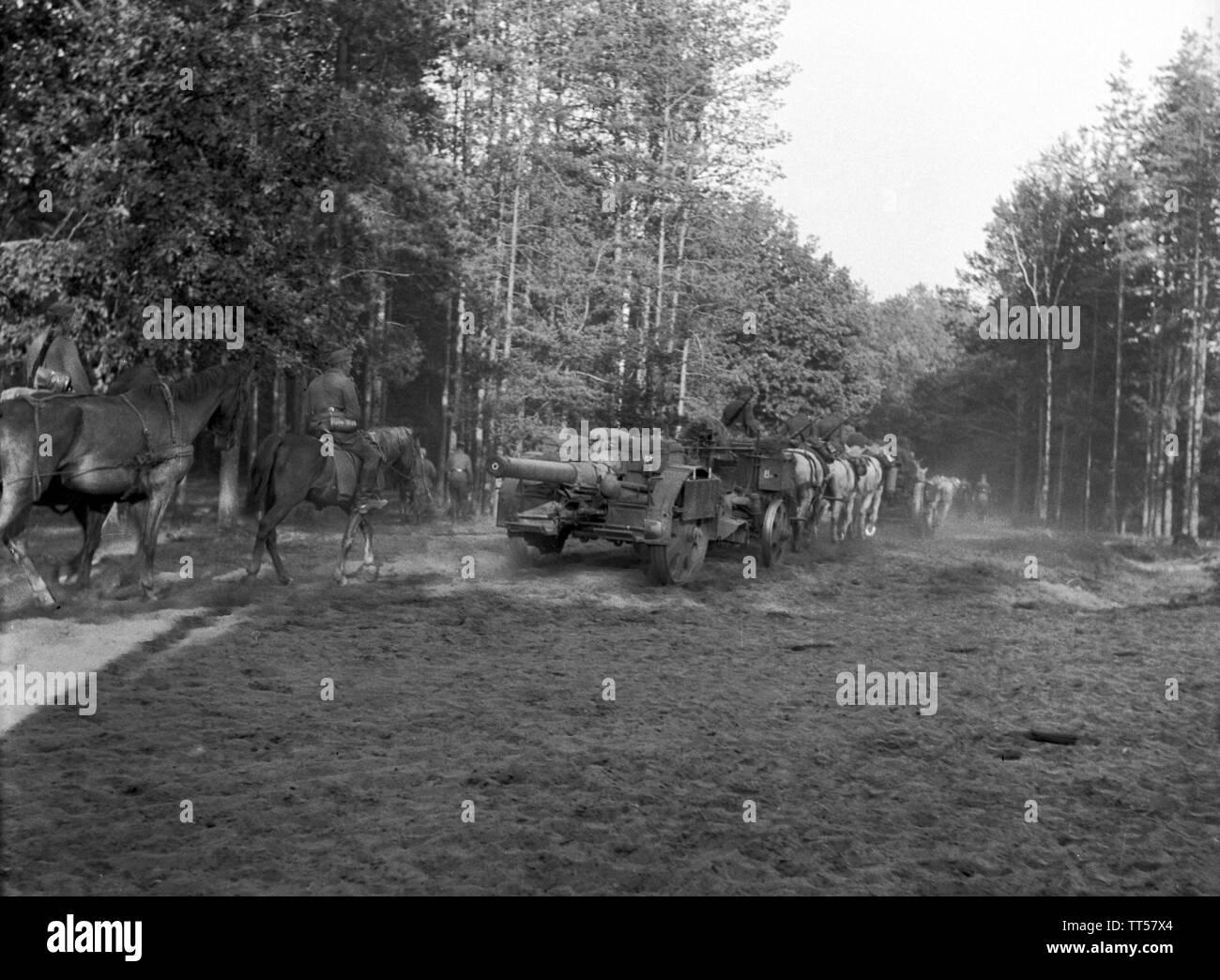 Wehrmacht Heer Feldkanone K15/16(t) K410(i) 15,2 cm Ex Tscheslowakei Autokanone M.15/16 - Esercito Tedesco cannone campo K15/16 15,2cm Ex Slovacchia ceceno M.15/16 Immagini Stock