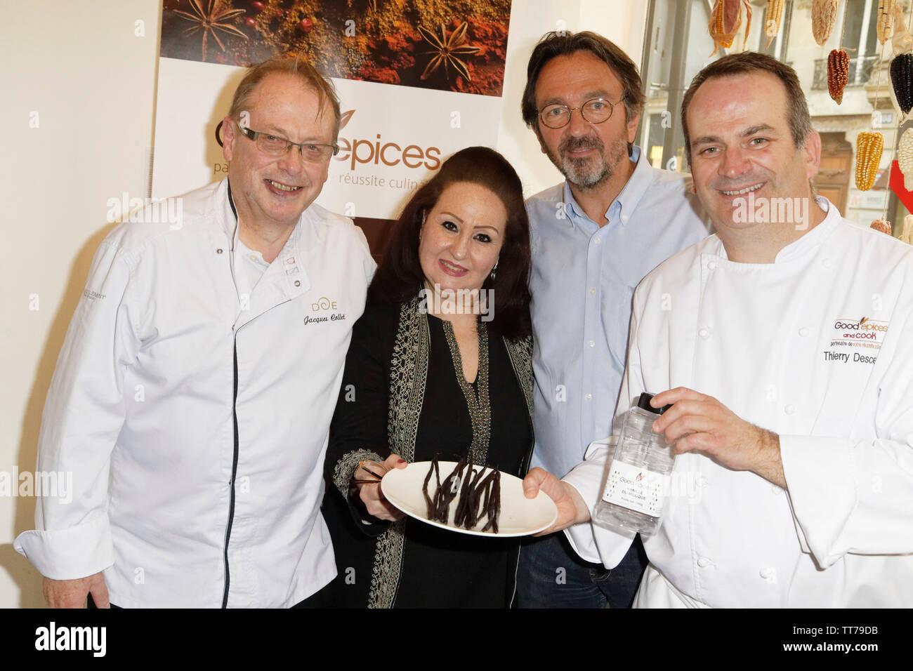 Parigi, Francia. 14 Giugno, 2019. Chef Jacques Collet e Thierry Desceliers presente la vaniglia del Messico i durante il Que Gusto Festival . Immagini Stock