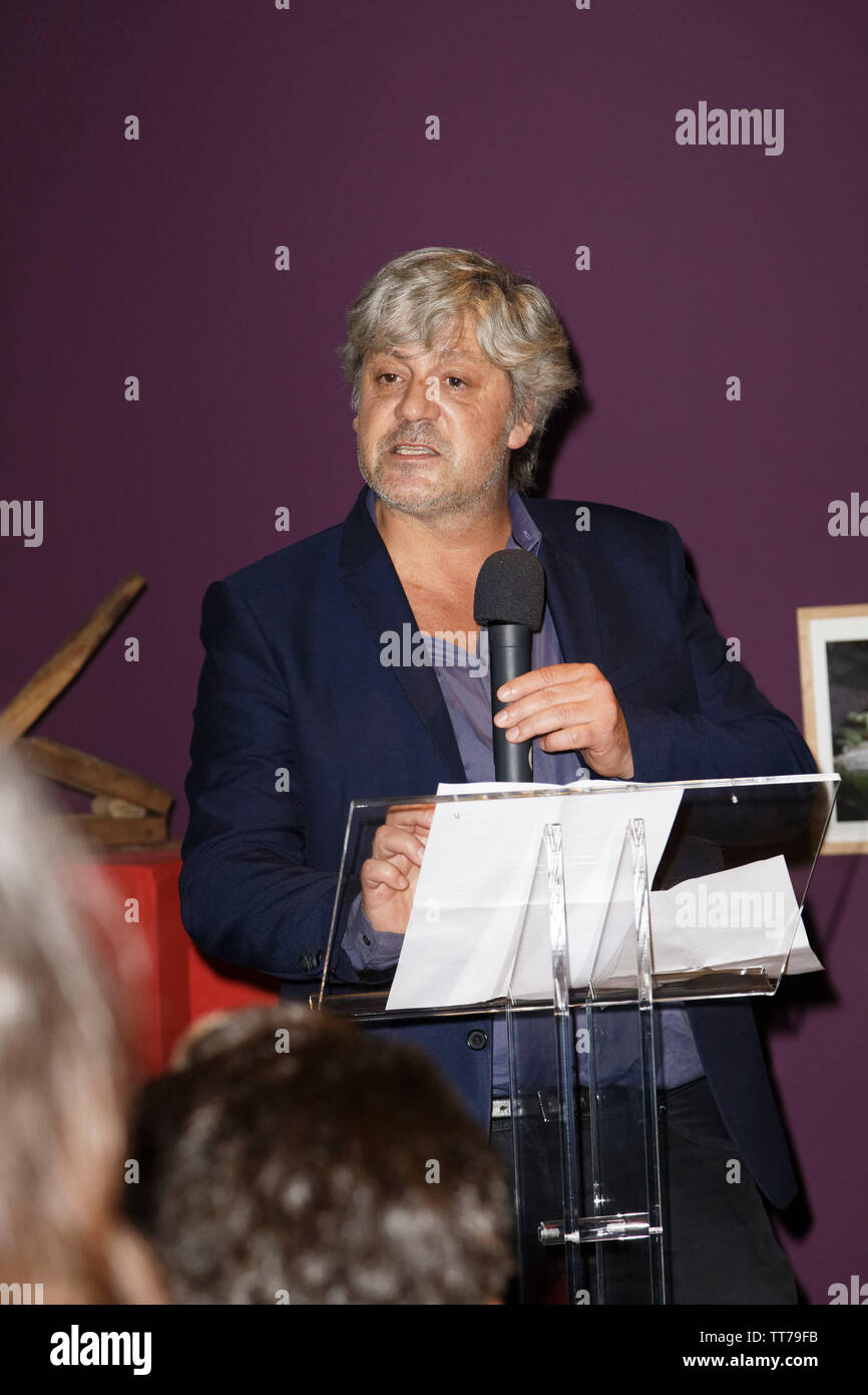 Parigi, Francia. 14 Giugno, 2019. Sébastien Ripari parla durante la Que Gusto Festival il 14 giugno 2019 a Parigi, Francia. Immagini Stock