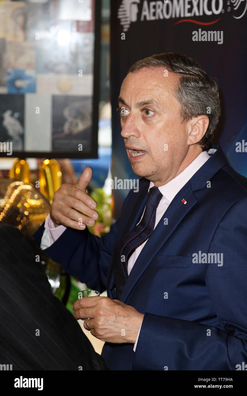 Parigi, Francia. 14 Giugno, 2019. Juan Manuel Gómez Robledo, Ambasciatore del Messico presso la Francia assiste il Que Gusto Festival il 14 giugno 2019 a Parigi. Immagini Stock