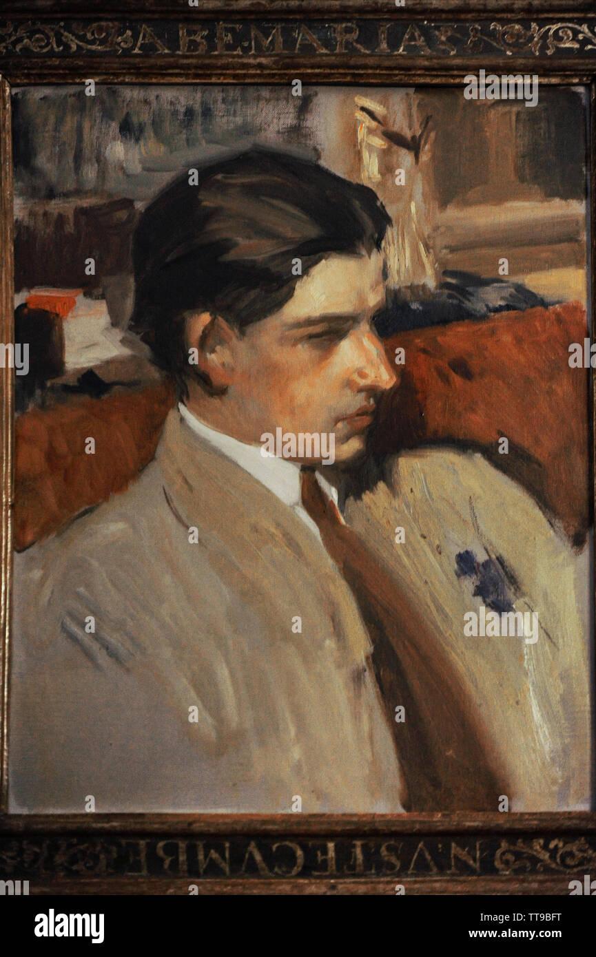 Joaquin Sorolla y Bastida (1863-1923). Pittore spagnolo. Ritratto di suo figlio Joaquin Sorolla García (1892-1948) a 19 anni. Museo Sorolla. Madrid. Spagna. Immagini Stock
