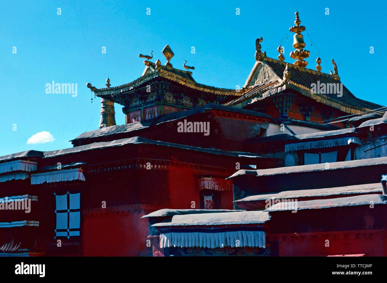 Tashi Lhunpo monastero,Shigatse,Tibet Immagini Stock
