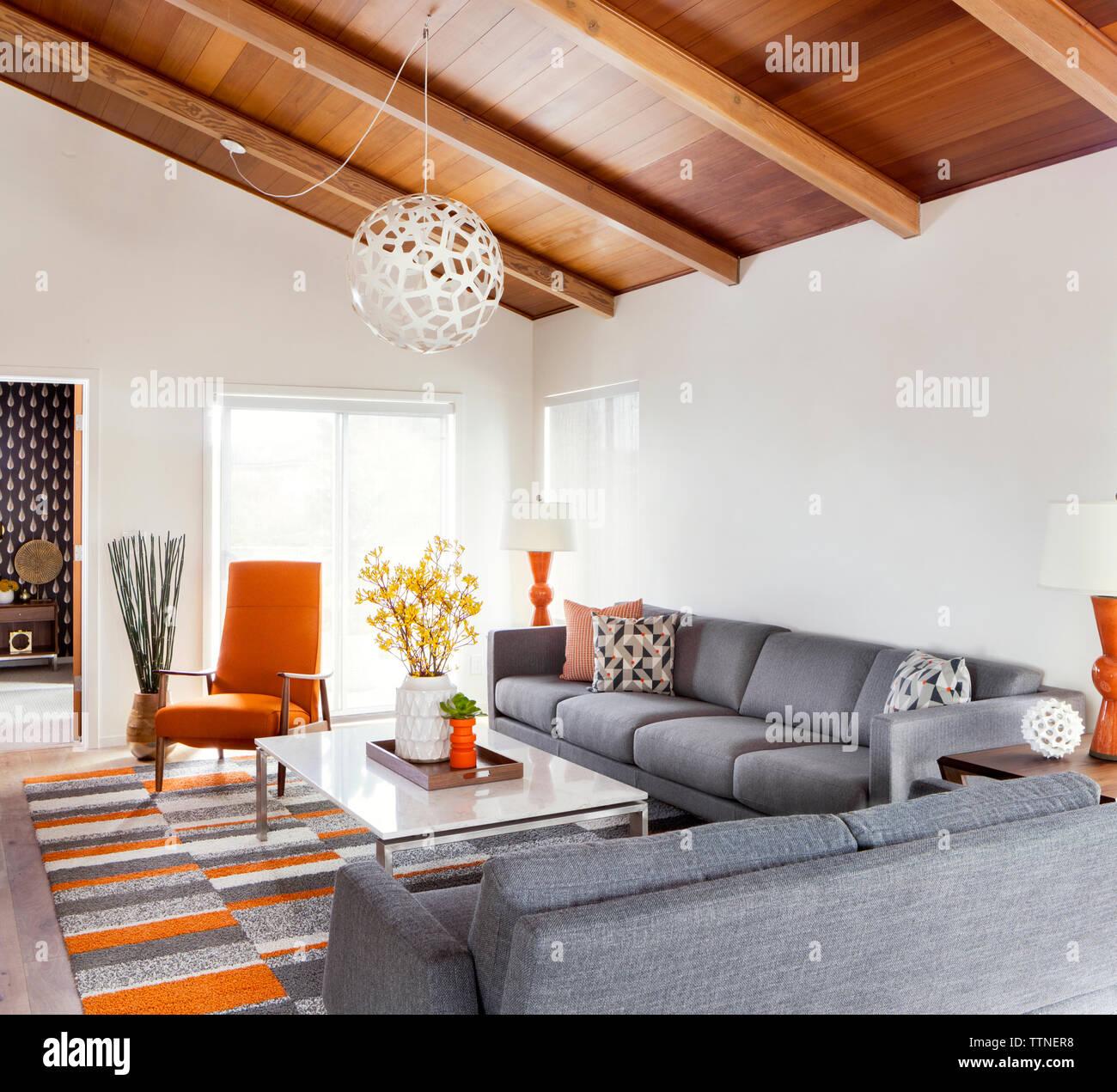 Interno del soggiorno moderno Foto Stock