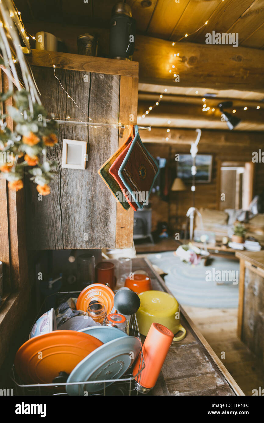 Utensili in cucina a casa Foto Stock
