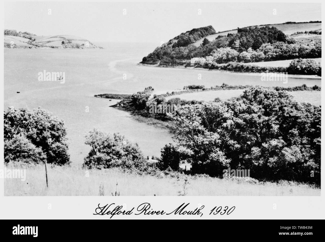 Helford Foce, Cornwall. Data: 1930 Foto Stock