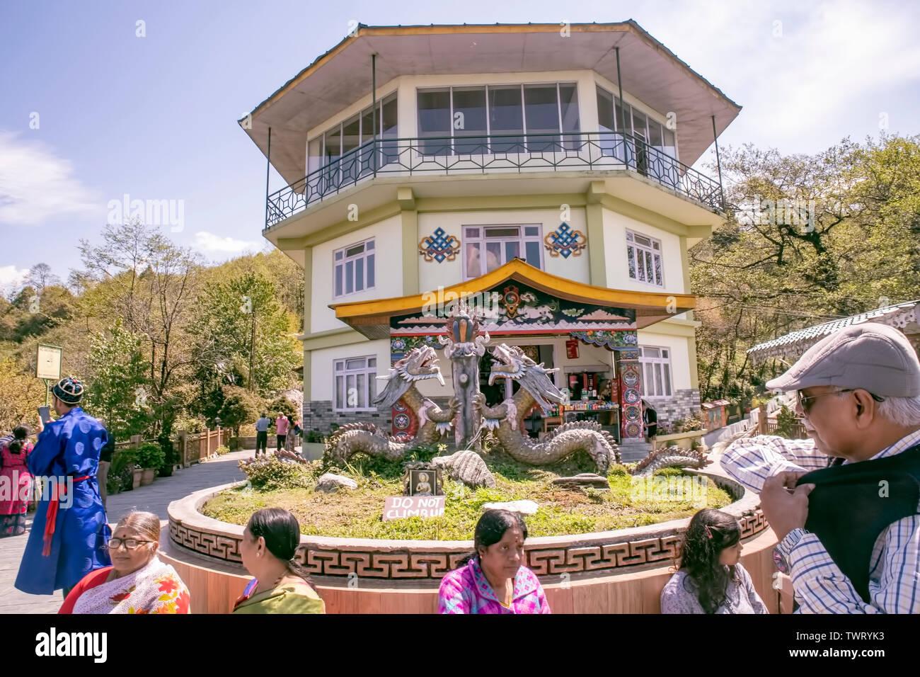 Tashi punto di vista,turistiche, spot,,per naturali,l'ambiente,beauty,Gangtok,il Sikkim India. Immagini Stock