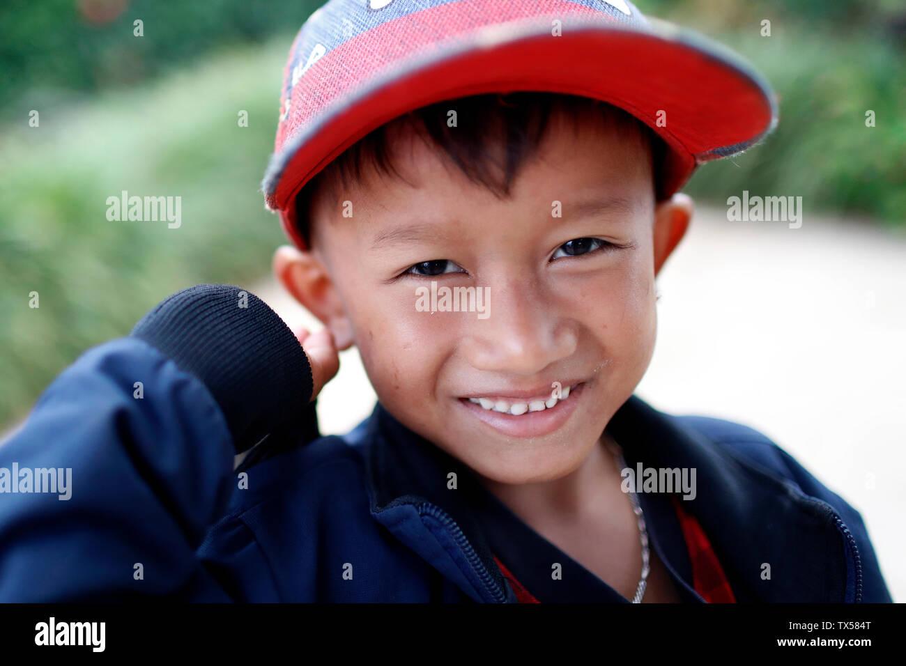 La minoranza etnica bambino Immagini Stock