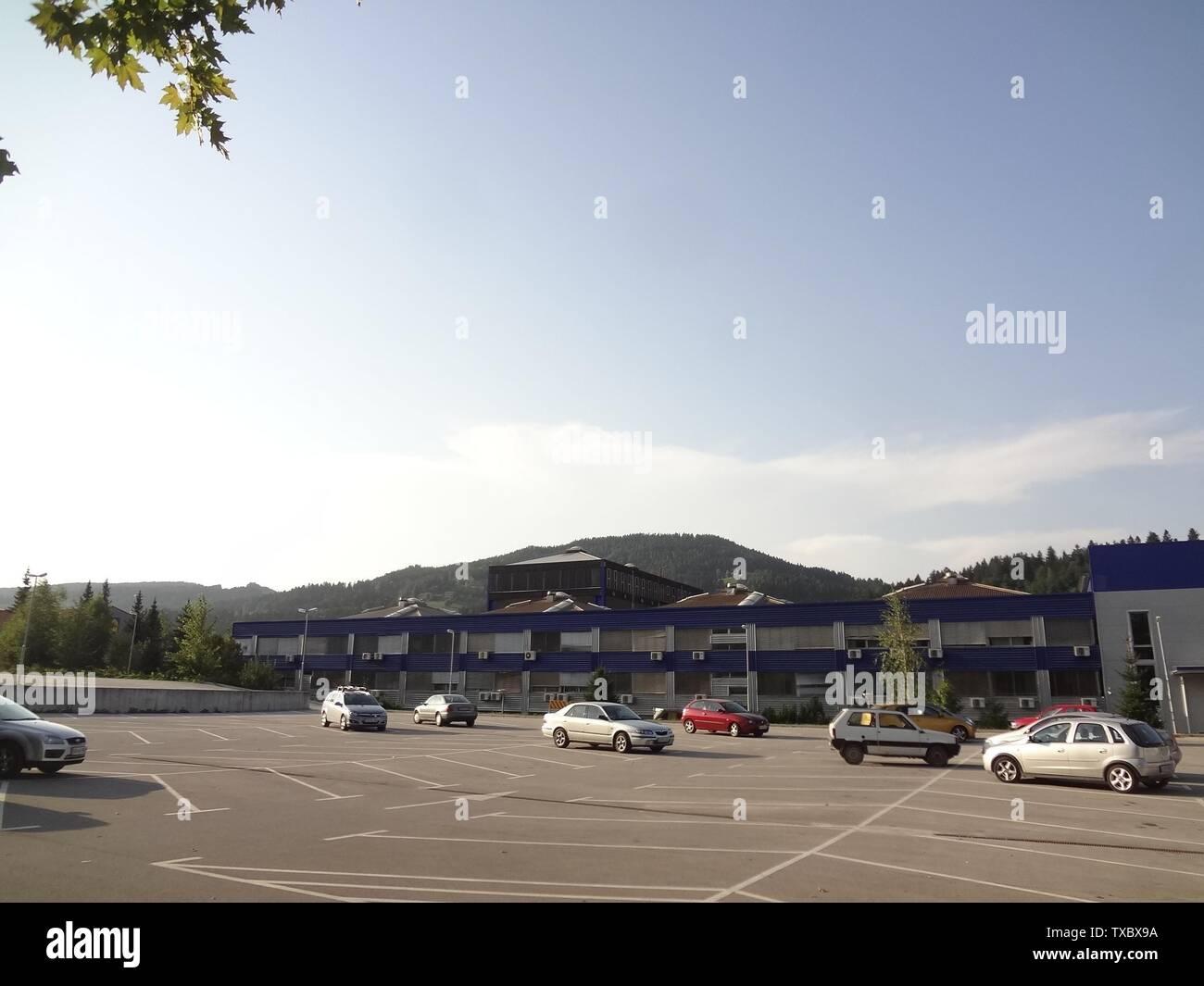 'Slovenščina: Poslovna cona v Dobji vasi; 9 novembre 2012 (originale data di caricamento); proprio lavoro; KraljMatjaz a Wikipedia sloveno; ' Immagini Stock