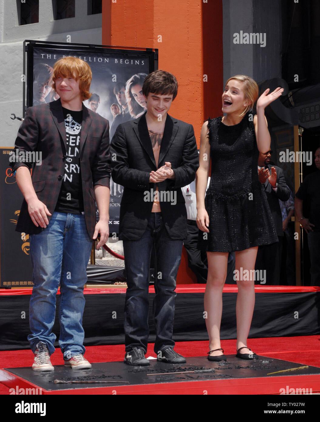 best sneakers 6ef37 e1b3d I tre giovani stelle del 'Harry Potter' film Rupert Grint ...