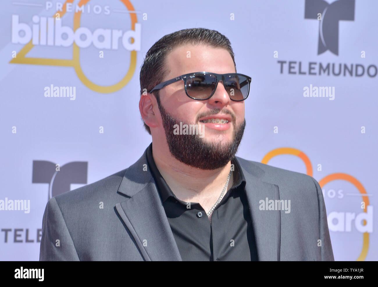 Artista musicale El Fantasma assiste il 2018 Billboard Latin Music Awards al Mandalay Bay Events Centre di Las Vegas, Nevada, il 26 aprile 2018. Foto di Jim Ruymen/UPI Immagini Stock