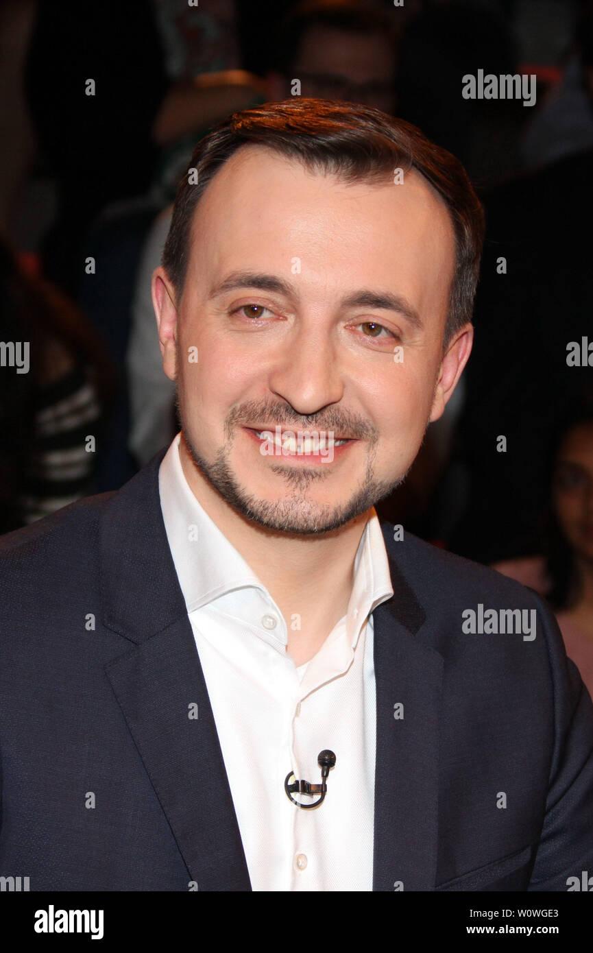 Paolo Ziemiak, Lanz, 1 Sendung vom 03.04.2019, Amburgo Foto Stock