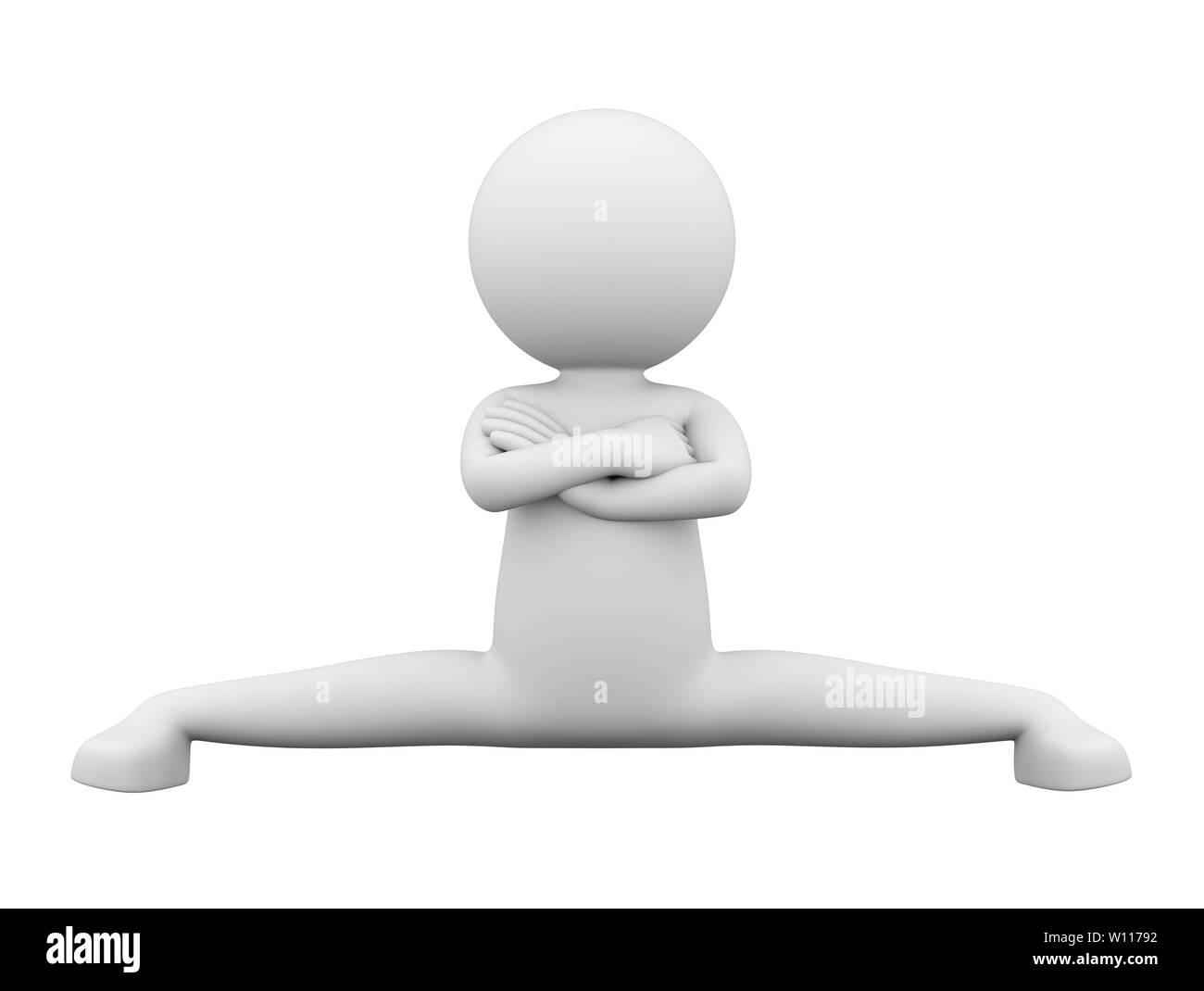 L'uomo bianco facendo Croce Epic gruppi indicati dal noto attore 3D Render su sfondo bianco Immagini Stock