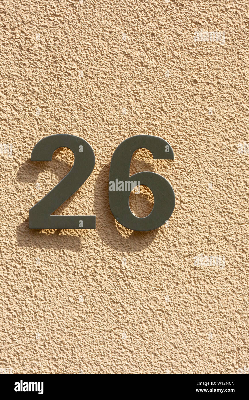 House Number 26 Immagini House Number 26 Fotos Stock Alamy