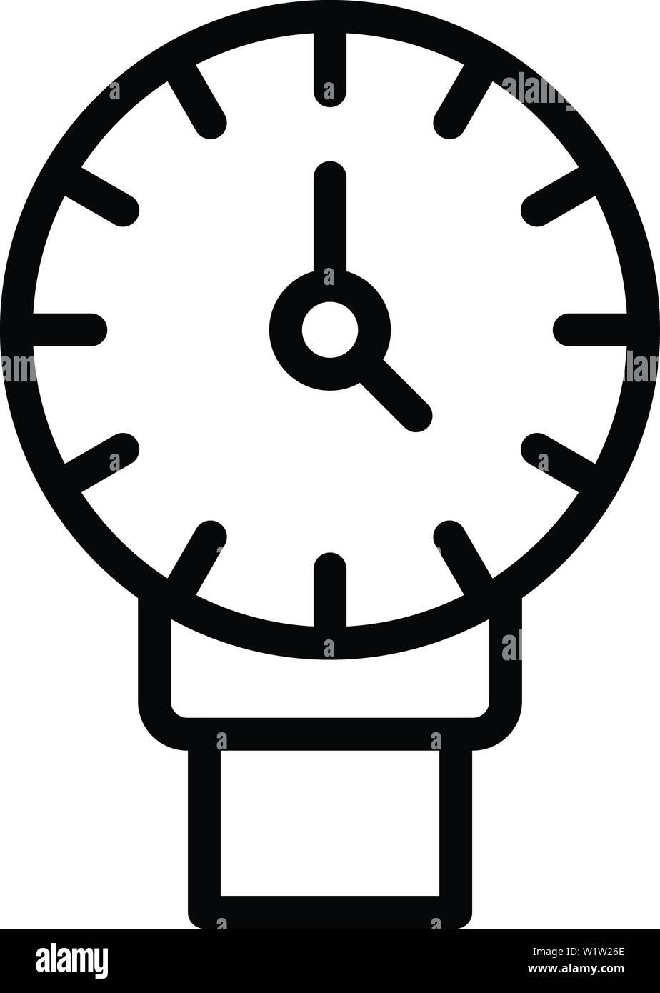 Manometro idraulico icona, stile contorno Immagini Stock