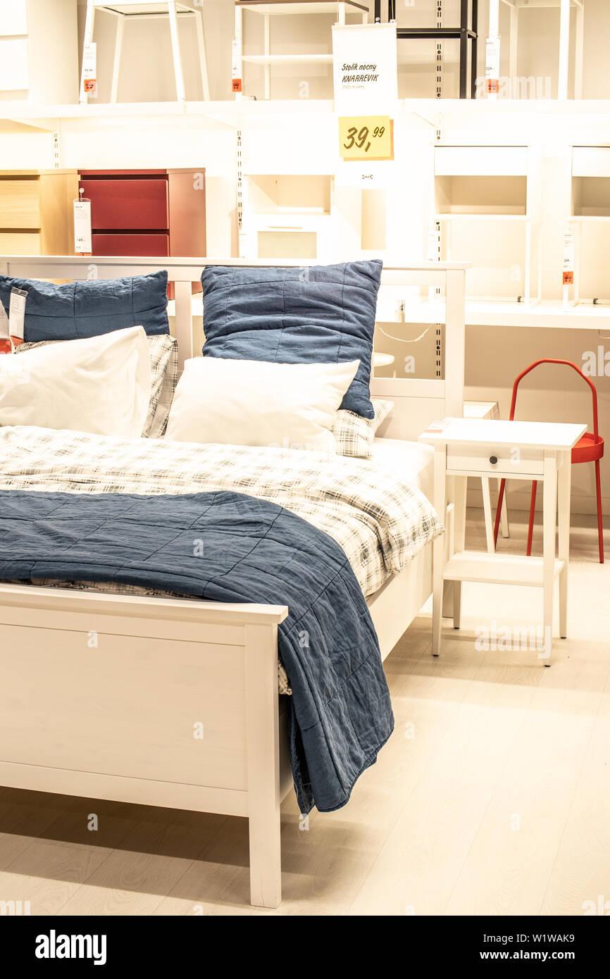 Lodz, Polonia, Jan 2019 esposizione interno negozio IKEA ...