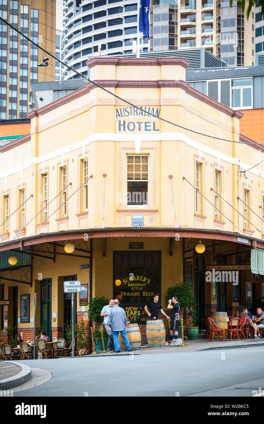 Il quartiere centrale degli affari di Sydney, Nuovo Galles del Sud, Australia Immagini Stock
