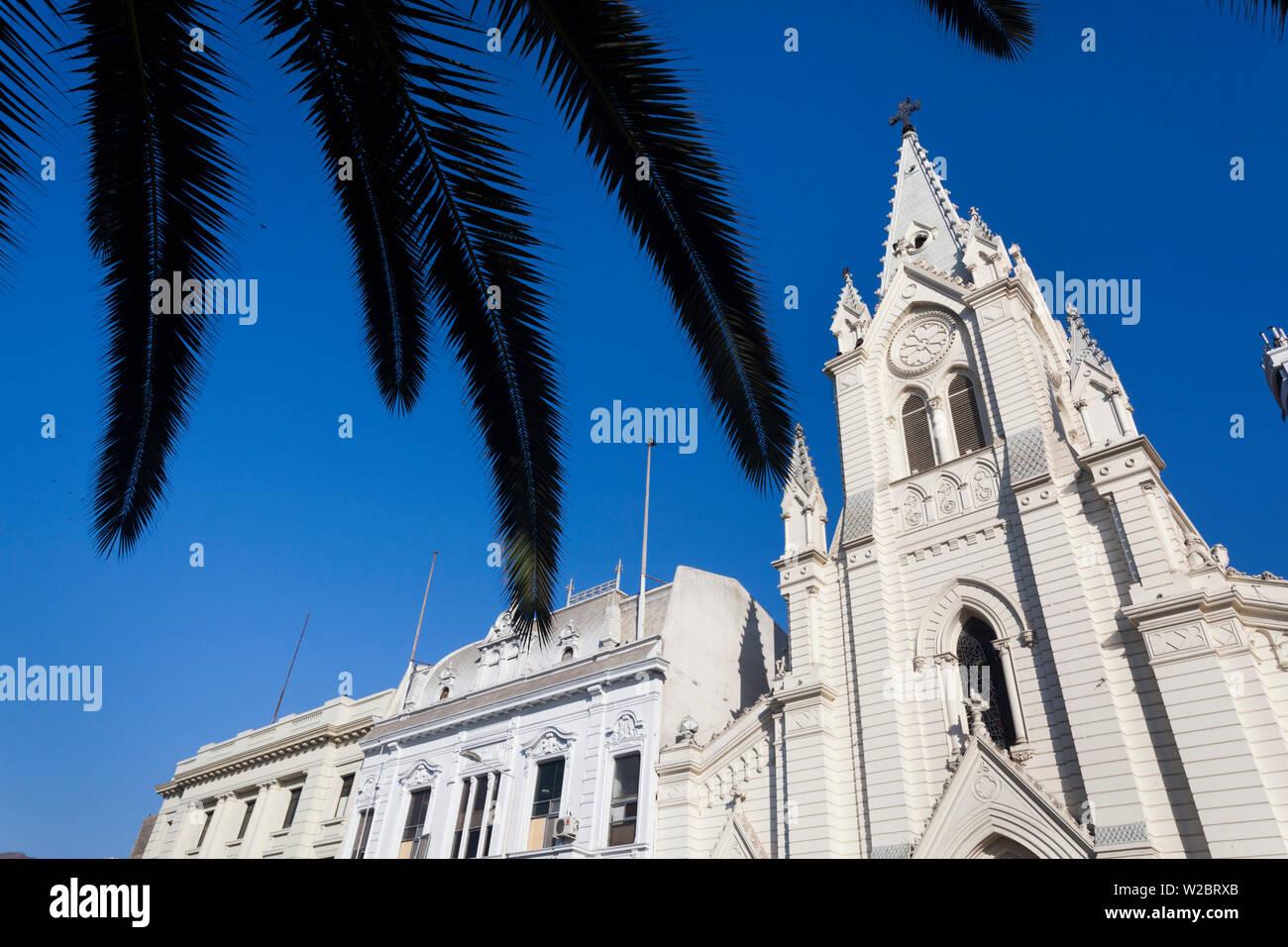 Il Cile, Antofagasta, Plaza Colon, Iglesia Catedral San Jose, esterna Immagini Stock